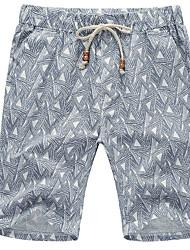 Homme simple Taille Normale Micro-élastique Short Pantalon,Ample Pied-de-poule
