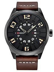 Муж. Модные часы Кварцевый Кожа Группа Коричневый