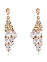 Drop Earrings AAA Cubic Zirconia Dangling Style Bikini Fashion Luxury Statement Jewelry Cubic Zirconia Copper Gold Plated Drop Jewelry For