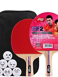 5 Звезд Ping Pang/Настольный теннис Ракетки Ping Pang Дерево Длинная рукоятка Короткая рукоятка Прыщи