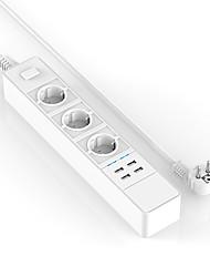 Nouvelle prise de courant desgin gm 15a prise électrique multiple 5v / 4.6a extension prise avec usb
