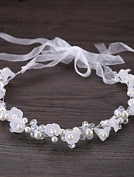 Rhinestone Imitation Pearl Fabric Headpiece-Wedding Special Occasion Casual Outdoor Wreaths 1 Piece