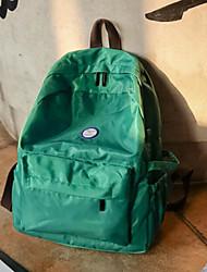 Women Backpack Canvas All Seasons Casual Outdoor Zipper Green Black Amethyst