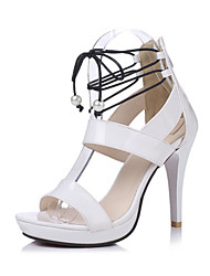 Women's Sandals Summer Club Shoes Gladiator Patent Leather Customized Materials Wedding Party & Evening Dress Stiletto HeelImitation