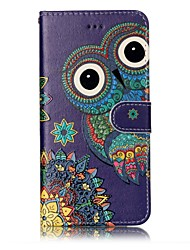 For iPhone X iPhone 8 Case Cover Wallet with Stand Flip Embossed Pattern Magnetic Full Body Case Owl Hard PU Leather for Apple iPhone X