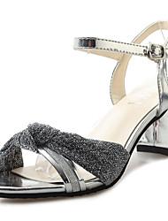 Women's Sandals Summer Comfort PU Outdoor Low Heel Blushing Pink Silver Black Gold