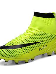 Männer athletische Schuhe Frühjahr fallen Licht Sohlen PU Outdoor athletischen High Top Fußballschuhe blau gelb orange schwarz Fußball