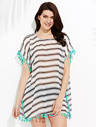 New Style Summer Beach Dress Cardigan 2015 Chiffon Striped Swimsuit Beach Cover up Swimsuit Women Hot Sale Beachwear