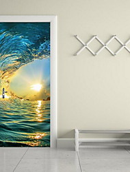 Paisaje Pegatinas de pared Calcomanías 3D para Pared Calcomanías Decorativas de Pared,Vinilo Material Decoración hogareña Vinilos