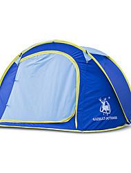 3 a 4 Personas Tienda Doble Carpa para camping Tienda pop up A Prueba de Humedad Impermeable Resistente al Viento Resistente a la lluvia
