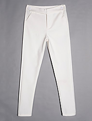 Women's Mid Rise strenchy Business Pants,Simple Skinny Solid