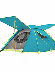 3-4 persons Tent Double Automatic Tent One Room Camping Tent >3000mm Carbon Fiber OxfordMoistureproof/Moisture Permeability Waterproof