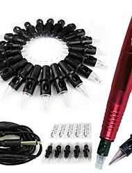 1Set S101 Rotary Tattoo Gun Machine Motor Eyebrow Body Liner and Shader with RCA Cable Kit Random Color