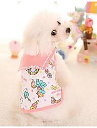 Cachorro Vestidos Roupas para Cães Casual Fashion Xadrez Laranja Rosa claro