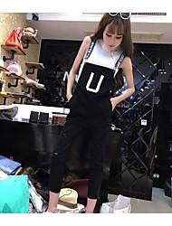 Debardeur Pantalon Costumes Femme,Couleur Pleine Décontracté / Quotidien simple Sans Manches A Sangles