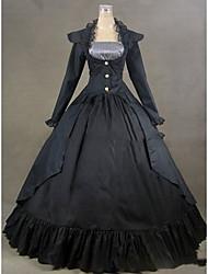 Uma-Peça/Vestidos Gótica Lolita Cosplay Vestidos Lolita Vintage Concha Manga Longa Comprido Vestido Para Outro