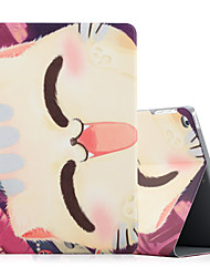 Pour apple ipad (2017) ipad air 2 ipad housse d'air coque antichoc avec support flip pattern carrosserie pleine carrure chat hard pu