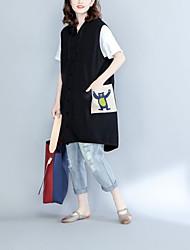 Damen Solide Einfach Tank Tops,Mit Kapuze Ärmellos Baumwolle