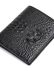 Men Wallets Genuine Leather Alligator cowhide Short Purse Brand Card Holder D6023-2