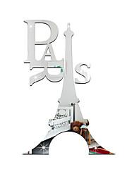 Архитектура Слова и фразы Зеркала Наклейки 3D наклейки Зеркальные стикеры Декоративные наклейки на стены,Акрил материал Украшение дома
