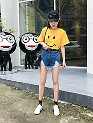Women's Low Waist strenchy Shorts Pants,Simple Relaxed Solid