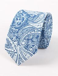 Men's Casual Fashion Personality Denim Cashew Flowers Printed Tie