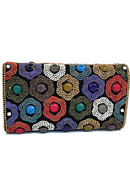 Women India Beads Rhinestone Event/Party/Clutches Bag