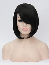 European and American Wigs Long Hair Wigs Black BOBO Straight Hair Wig 12inch