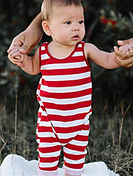 Baby Fashion Stripe One-Pieces Cotton Summer Sleeveless Piecemeal Rompers Kids lothes