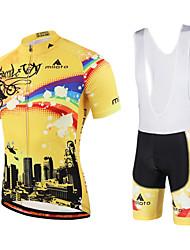 Miloto Cycling Jersey with Bib Shorts Men's Women's Kid's Unisex Short Sleeves Bike Bib Shorts Bib Tights Sweatshirt Jersey Quick Dry