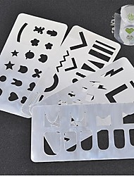 1 PC Nail Art Hollow Out Printing The Steel Plate Metal The Material Printing Paste Paragraph 4 Optional