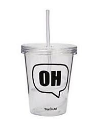 Стаканы, 320 Пластик Вода Каждодневные чашки / стаканы