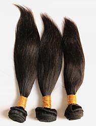 3Pcs/150g 8-28inch Peruvian Virgin Straight Hair Natural Black Human Hair Weft.