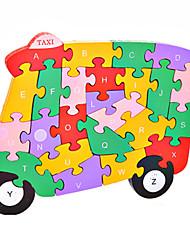 Jigsaw Puzzles Building Blocks DIY Toys Car Wooden
