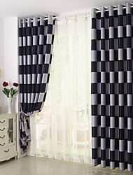 One Panel European Brief Pattern Plaid Blackout/Sheer Window Curtains For living Room/Kitchen/ Hotel Window Treatment/Drapes