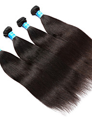 Vinsteen Brazilian Yaki Human Hair 4Pcs/Lot Hair Weave Natural Human Hair Weft Double Weft Human Hair Weaves Black Color Hair Extensions