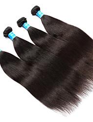 Vinsteen Yaki Human Hair Extensions 4Pcs Burmese Hair Weave Natural Black Color Human Hair Weft Double Weft Human Hair Weaves Wholesale Price
