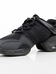 Maßfertigung Damen Tanz-Turnschuh Atmungsaktive Mesh Kunststoff Kunstleder Sneakers Praxis Flacher Absatz Schwarz 2,5 - 4,5 cm