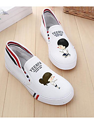 Damen Loafers & Slip-Ons Leinwand Frühling Weiß Flach