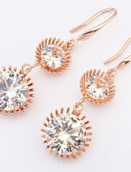 Euramerican Fashion Luxury  Women's  Party  Rhinestone Small Round Earrings Movie Jewelry