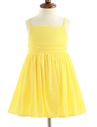 Girl's Solid Dress,Cotton Sleeveless