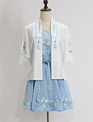Outfits Wa Lolita Vintage Inspired Cosplay Lolita Dress Vintage Short Sleeve Short / Mini For