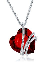 Mulheres Colares com Pendentes Jóias Formato de Coração Jóias Cristal Liga Original Moda Euramerican bijuterias Jóias Para Festa Outro