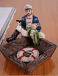 Средиземноморский стиль пепельница капитан матрос рыбак пираты карибской пепельницы рамдон цвет