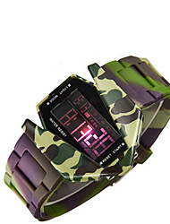 Men's Fashion Watch Digital Silicone Band Green