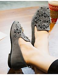 Dames Platte schoenen Comfortabel PU Lente Causaal Comfortabel Platte hak Grijs Plat