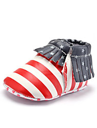 Baby Kids' Loafers & Slip-Ons First Walkers Synthetic Fall Winter Party & Evening Dress Casual Animal Print Tassel Flat Heel Red Flat