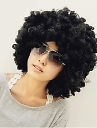 Big hair Synthetic Hair Afro Holiday Explosive Head Black Short Curly Wig
