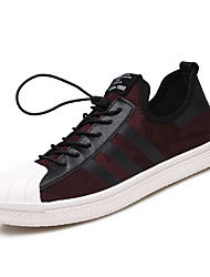 Men's Sneakers Ankle Strap PU Summer Fall Casual Red Black 1in-1 3/4in