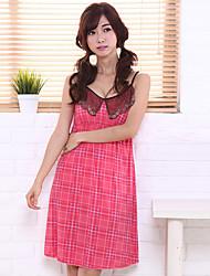 Women's Garters & Suspenders Nightwear Solid-Thin Cotton